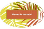Palmes ensoleillées Étiquettes carrées - gabarit prédéfini. <br/>Utilisez notre logiciel Avery Design & Print Online pour personnaliser facilement la conception.