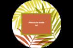 Palmes ensoleillées Étiquettes rondes - gabarit prédéfini. <br/>Utilisez notre logiciel Avery Design & Print Online pour personnaliser facilement la conception.