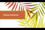 Palmes ensoleillées Carte d'affaire - gabarit prédéfini. <br/>Utilisez notre logiciel Avery Design & Print Online pour personnaliser facilement la conception.