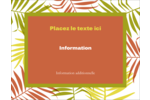 Palmes ensoleillées Carte Postale - gabarit prédéfini. <br/>Utilisez notre logiciel Avery Design & Print Online pour personnaliser facilement la conception.