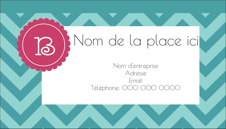 """3½"""" x 2"""" Carte d'affaire - Monogramme en chevron"""