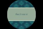 Plume de paon Étiquettes rondes - gabarit prédéfini. <br/>Utilisez notre logiciel Avery Design & Print Online pour personnaliser facilement la conception.