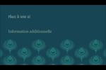 Plume de paon Carte d'affaire - gabarit prédéfini. <br/>Utilisez notre logiciel Avery Design & Print Online pour personnaliser facilement la conception.