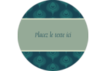 Plume de paon Étiquettes arrondies - gabarit prédéfini. <br/>Utilisez notre logiciel Avery Design & Print Online pour personnaliser facilement la conception.
