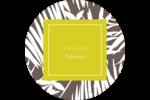 Palmes blanches Étiquettes Voyantes - gabarit prédéfini. <br/>Utilisez notre logiciel Avery Design & Print Online pour personnaliser facilement la conception.