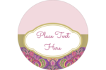 Easily customize projects with pre-designed Purple Paisley Lip Balm templates.