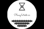 Triangles modernes pour typographie Étiquettes arrondies - gabarit prédéfini. <br/>Utilisez notre logiciel Avery Design & Print Online pour personnaliser facilement la conception.