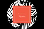 Palmes en noir et blanc Étiquettes Voyantes - gabarit prédéfini. <br/>Utilisez notre logiciel Avery Design & Print Online pour personnaliser facilement la conception.