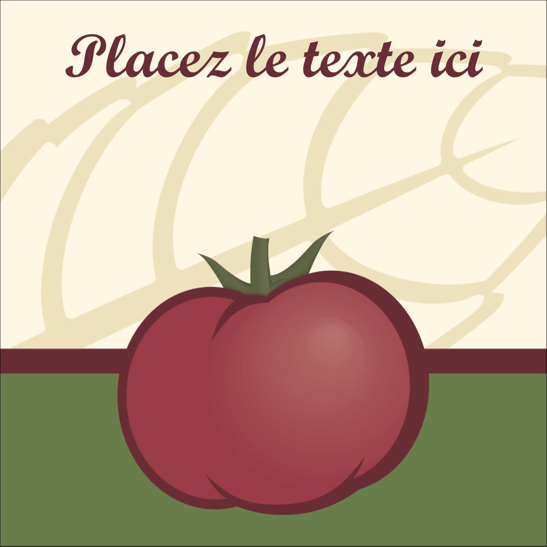 Tomate italienne Étiquettes enveloppantes - gabarit prédéfini. <br/>Utilisez notre logiciel Avery Design & Print Online pour personnaliser facilement la conception.