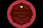 Fioritures et cœur Étiquettes Voyantes - gabarit prédéfini. <br/>Utilisez notre logiciel Avery Design & Print Online pour personnaliser facilement la conception.