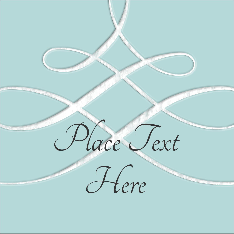 "1½"" x 1½"" Square Label - Letterpress Elegant"