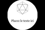 Sphères modernes pour typographie Étiquettes arrondies - gabarit prédéfini. <br/>Utilisez notre logiciel Avery Design & Print Online pour personnaliser facilement la conception.