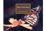 Customize personal or professional projects with pre-designed Perched Butterfly templates.