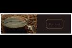 Tasse de café Affichette - gabarit prédéfini. <br/>Utilisez notre logiciel Avery Design & Print Online pour personnaliser facilement la conception.