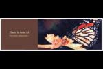 Papillon perché Carte de note - gabarit prédéfini. <br/>Utilisez notre logiciel Avery Design & Print Online pour personnaliser facilement la conception.