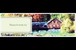 Maison du lac Carte de note - gabarit prédéfini. <br/>Utilisez notre logiciel Avery Design & Print Online pour personnaliser facilement la conception.
