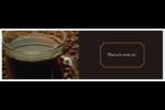 Tasse de café Carte de note - gabarit prédéfini. <br/>Utilisez notre logiciel Avery Design & Print Online pour personnaliser facilement la conception.