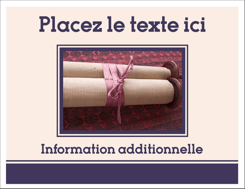 """8½"""" x 11"""" Cartes Et Articles D'Artisanat Imprimables - Mitzvah"""