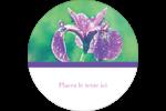 Iris violet Étiquettes Voyantes - gabarit prédéfini. <br/>Utilisez notre logiciel Avery Design & Print Online pour personnaliser facilement la conception.