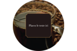 Tasse de café Étiquettes Voyantes - gabarit prédéfini. <br/>Utilisez notre logiciel Avery Design & Print Online pour personnaliser facilement la conception.