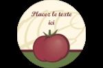 Tomate italienne Étiquettes rondes - gabarit prédéfini. <br/>Utilisez notre logiciel Avery Design & Print Online pour personnaliser facilement la conception.