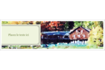 Maison du lac Affichette - gabarit prédéfini. <br/>Utilisez notre logiciel Avery Design & Print Online pour personnaliser facilement la conception.