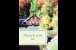 Maison du lac Carte Postale - gabarit prédéfini. <br/>Utilisez notre logiciel Avery Design & Print Online pour personnaliser facilement la conception.