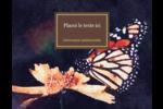 Papillon perché Carte Postale - gabarit prédéfini. <br/>Utilisez notre logiciel Avery Design & Print Online pour personnaliser facilement la conception.
