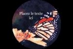 Papillon perché Étiquettes arrondies - gabarit prédéfini. <br/>Utilisez notre logiciel Avery Design & Print Online pour personnaliser facilement la conception.