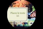 Maison du lac Étiquettes rondes - gabarit prédéfini. <br/>Utilisez notre logiciel Avery Design & Print Online pour personnaliser facilement la conception.