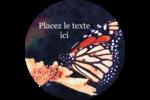 Papillon perché Étiquettes rondes - gabarit prédéfini. <br/>Utilisez notre logiciel Avery Design & Print Online pour personnaliser facilement la conception.