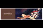 Papillon perché Affichette - gabarit prédéfini. <br/>Utilisez notre logiciel Avery Design & Print Online pour personnaliser facilement la conception.