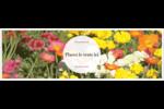 Prairie fleurie Carte de note - gabarit prédéfini. <br/>Utilisez notre logiciel Avery Design & Print Online pour personnaliser facilement la conception.