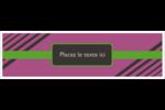 Bandes noires sur fond violet  Affichette - gabarit prédéfini. <br/>Utilisez notre logiciel Avery Design & Print Online pour personnaliser facilement la conception.