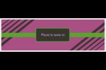 Bandes noires sur fond violet  Carte de note - gabarit prédéfini. <br/>Utilisez notre logiciel Avery Design & Print Online pour personnaliser facilement la conception.