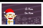 Petit Lutin de Noël Cartes d'affaires - gabarit prédéfini. <br/>Utilisez notre logiciel Avery Design & Print Online pour personnaliser facilement la conception.