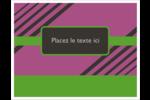 Bandes noires sur fond violet  Cartes Et Articles D'Artisanat Imprimables - gabarit prédéfini. <br/>Utilisez notre logiciel Avery Design & Print Online pour personnaliser facilement la conception.