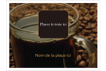Tasse de café Badges - gabarit prédéfini. <br/>Utilisez notre logiciel Avery Design & Print Online pour personnaliser facilement la conception.