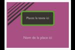 Bandes noires sur fond violet  Badges - gabarit prédéfini. <br/>Utilisez notre logiciel Avery Design & Print Online pour personnaliser facilement la conception.