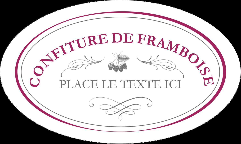 """1½"""" x 1½"""" Étiquettes carrées - Confiture de framboises à l'ancienne"""