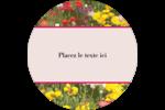 Prairie fleurie Étiquettes rondes - gabarit prédéfini. <br/>Utilisez notre logiciel Avery Design & Print Online pour personnaliser facilement la conception.