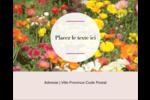 Prairie fleurie Étiquettes rondes gaufrées - gabarit prédéfini. <br/>Utilisez notre logiciel Avery Design & Print Online pour personnaliser facilement la conception.