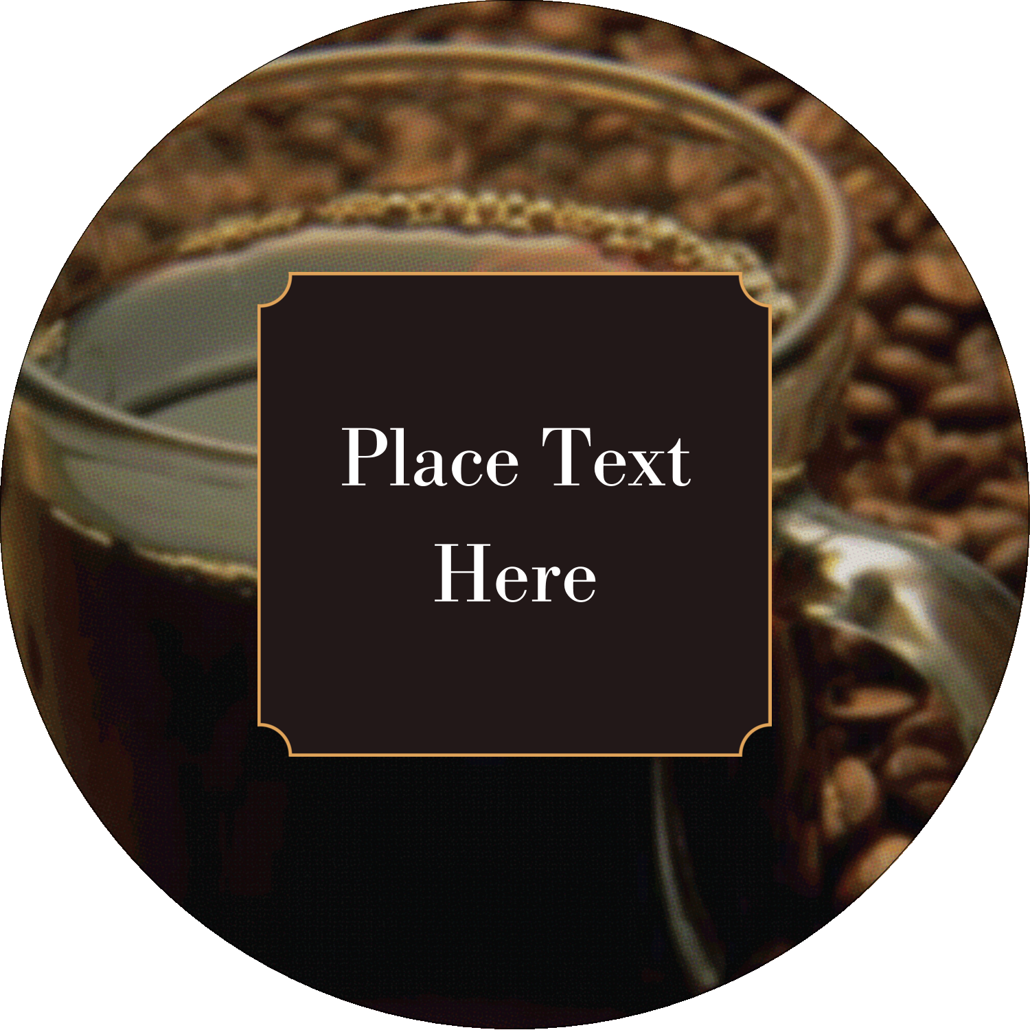 "2½"" Round Label - Cup of Coffee"