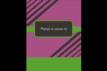 Bandes noires sur fond violet  Carte Postale - gabarit prédéfini. <br/>Utilisez notre logiciel Avery Design & Print Online pour personnaliser facilement la conception.