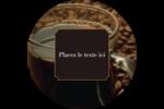 Tasse de café Étiquettes rondes - gabarit prédéfini. <br/>Utilisez notre logiciel Avery Design & Print Online pour personnaliser facilement la conception.