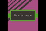 Bandes noires sur fond violet  Étiquettes rondes - gabarit prédéfini. <br/>Utilisez notre logiciel Avery Design & Print Online pour personnaliser facilement la conception.