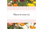 Prairie fleurie Étiquettes carrées - gabarit prédéfini. <br/>Utilisez notre logiciel Avery Design & Print Online pour personnaliser facilement la conception.