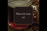Tasse de café Étiquettes carrées - gabarit prédéfini. <br/>Utilisez notre logiciel Avery Design & Print Online pour personnaliser facilement la conception.