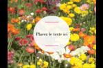Prairie fleurie Carte Postale - gabarit prédéfini. <br/>Utilisez notre logiciel Avery Design & Print Online pour personnaliser facilement la conception.