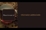 Tasse de café Carte d'affaire - gabarit prédéfini. <br/>Utilisez notre logiciel Avery Design & Print Online pour personnaliser facilement la conception.